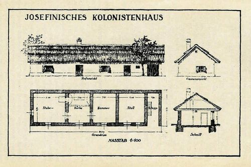 Picture 1 - A colonist's house of Josef II's era.